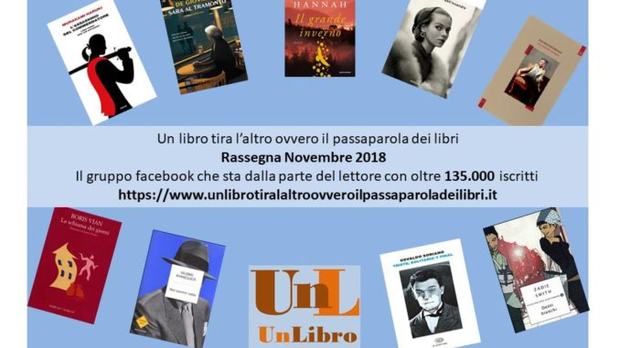 rassegna novembre 2018 Recensioni libri e news UnLibro