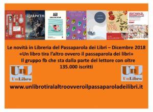 Le novità in lbreria del passaparola dei libri dicembre 2018 Recensioni e News UnLibro