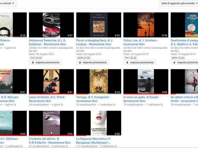 """canale YouTube di """"Un libro tira l'altro ovvero il passaparola dei libri"""""""