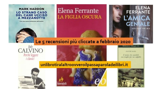 Le 5 recensioni più cliccate a febbraio 2020 sul Passaparola dei Libri