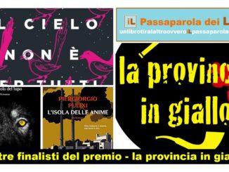 I tre finalisti del premio - la provincia in giallo