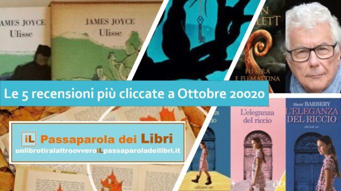 Le 5 recensioni più cliccate a Ottobre 2020 - Il passaparola dei libri
