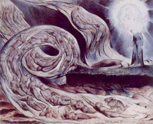 dipinto di Blake sul canto V Paolo e Francesca.